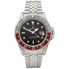 Rolex GMT Master II Pepsi Fat Lady MK1 Stainless Steel 16760 Wristwatch