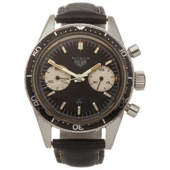 Heuer Autavia Andretti Chronograph Stainless Steel 3646 Wristwatch