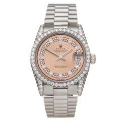 Rolex Datejust 18K White Gold 68159 Wristwatch