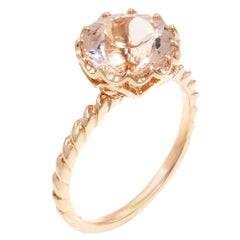 14 Karat Rose Gold 2 Carat Natural Morganite Ring