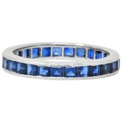 Oscar Heyman Brothers 1980s 2.70 Carat Sapphire Platinum Eternity Band Ring