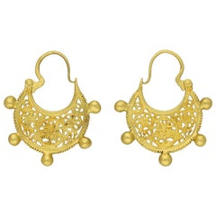 Byzantine Gold Earrings, circa 6th-7th Century