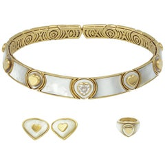 Marina.B Mother of Pearl and Yellow Gold Set