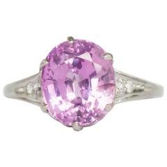 5.38 Carat Sapphire Platinum Engagement Ring