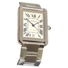 Cartier Tank Solo X L Stainless Steel Automatic Winding Wristwatch