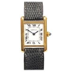 Cartier Yellow Gold Classic Ladies Tank Mechanical Wrist watch