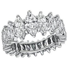 Marquise Cut Diamond Platinum Eternity Ring
