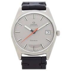 Vintage Omega Geneve Ref. 166.041 Stainless Steel Watch, 1968