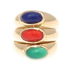 Van Cleef & Arpels Gemstone Gold Ring