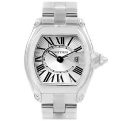 Cartier Roadster Silver Dial Stainless Steel Ladies Watch W62016V3
