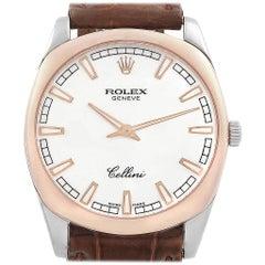 Rolex Cellini Danaos White and Rose Gold Men's Watch 4243