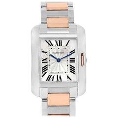 Cartier Tank Anglaise Medium Steel Rose Gold Watch WT100032