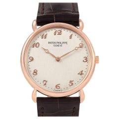 Patek Philippe Calatrava Rose Gold Vintage Men's Watch 3820 Box Papers