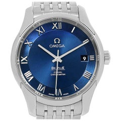 Omega Deville Co-Axial Blue Dial Watch 431.10.41.21.03.001 Unworn
