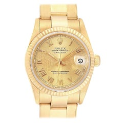 Rolex President Datejust Midsize 31 Yellow Gold Ladies Watch 68278