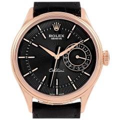 Rolex Cellini Date 18 Karat Everose Gold Automatic Men's Watch 50515 Box Card