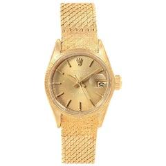 Rolex President Datejust Yellow Gold Ladies Watch 6703