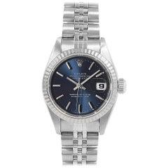 Rolex Datejust Steel White Gold Ladies Watch 69174 Box Papers