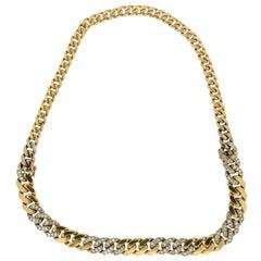 Bulgari 18 Karat Yellow Gold Diamonds Choker Necklace