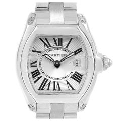 Cartier Roadster Steel Ladies Watch W62016V3 Box Papers Strap