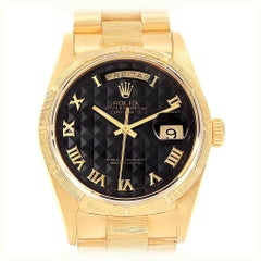Rolex Day-Date President Yellow Gold Pyramid Dial Men's Watch 18248