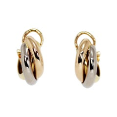 Cartier Trinity 18 Carat Gold Hoop Earrings