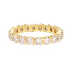 Modern 2.2 Carat Brilliant Cut Diamond Eternity Ring