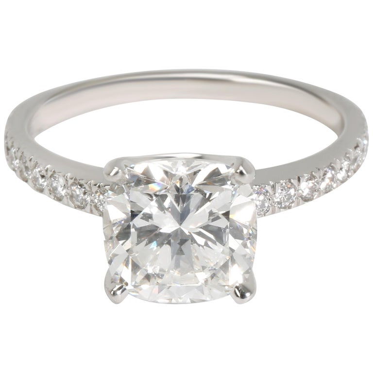 81fde92d31f17 Tiffany & Co. Novo Cushion Diamond Engagement Ring in Platinum G VVS2 2.17  CTW