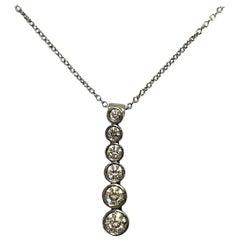 632b2fed2 Tiffany and Co. Graduated Tourmaline Diamond Platinum Necklace For ...