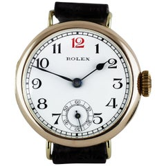 Rolex Rose Gold Officers Trench Watch, 1928