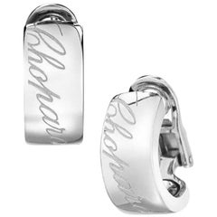"Chopard ""Chopardissimo"" Earrings 18 Karat White Gold"