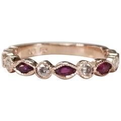 14 Karat Ruby and Diamond Ring