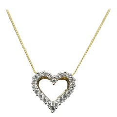 14 Karat Diamond Heart Necklace