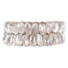 7.05 Carat Briolette Diamond Platinum Ring