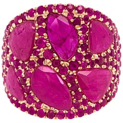 Ruchi New York Slice Ruby Ring