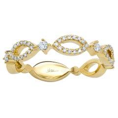14 Karat Yellow Gold Diamond 0.22 Carat Ladies Ring