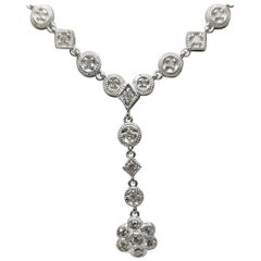 "14 Karat ""Art Deco"" Inspired Diamond Necklace"
