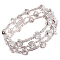 7.75 Carat Rose-Cut Diamond Bracelet