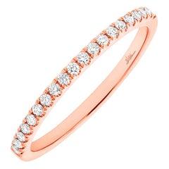14 Karat Rose Gold Diamond 0.18 Carat Ladies Band Ring