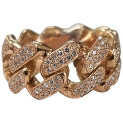 14 Karat Rose Gold Diamond Pave' Link Eternity Ring