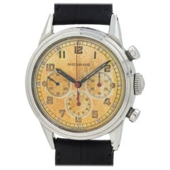 Movado Chronograph Waterproof Design Stainless Steel, circa 1950s