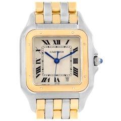 Cartier Panthere Large Steel 18 Karat Yellow Gold Three-Row Watch W25028B6