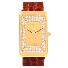 Corum 18 Karat Yellow Gold Diamond 5 Gram Ingot 999.9 Watch