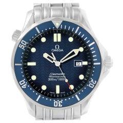 Omega Seamaster 41 James Bond Blue Wave Dial Steel Watch 2541.80.00