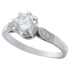 Vintage 1940s 1.04Ct Diamond and Platinum Solitaire Ring