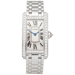 Cartier Tank Americaine 18k White Gold 2489