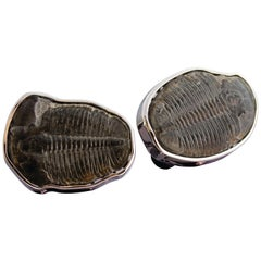 Tateossian Trilobytes Cufflinks set in 18 Karat White Gold - Limited Edition 1/1
