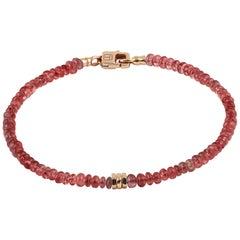 Tateossian Precious Stone Beaded Bracelet - Ruby & 18 Karat Gold