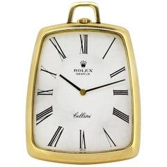 Rolex Cellini Pocket Watch 18 Karat Gold, 3727, circa 1970s
