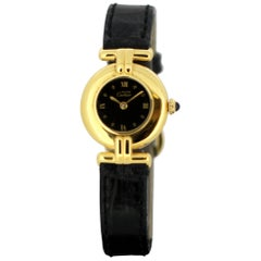 """Cartier Ladies """"Vermeil"""" Gold-Plated and Sterling Silver Quartz Watch, 1990s"""